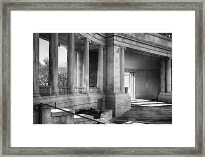 Greek Theatre 7 Bw Framed Print by Angelina Vick