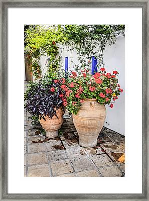 Greek Urns Framed Print