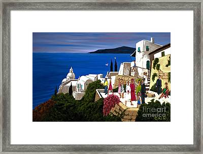 Greek Wedding Framed Print