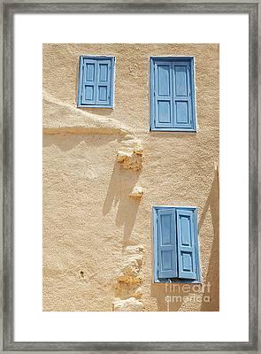 Greek Windows Framed Print by Neil Overy