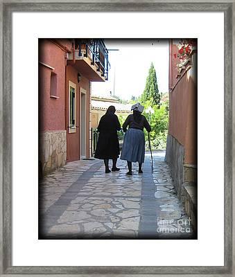 Greek Women Framed Print