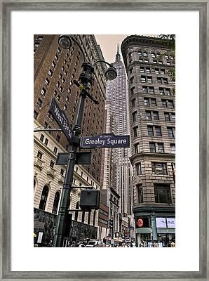 Greeley Square Framed Print