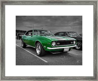 Green 1968 Camaro Z28 Framed Print