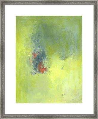 Green Abstract Framed Print by Andrea Friedell