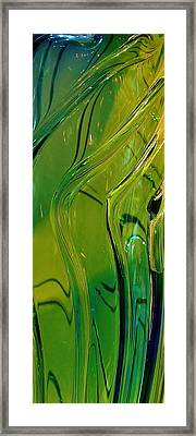 Green Abstract Framed Print by Bruce Bley