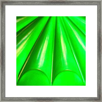 Green Abstract Framed Print by Christy Beckwith