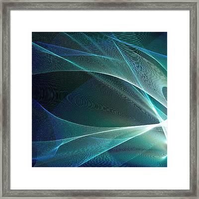 Green Abstract Pattern Framed Print by Mehau Kulyk