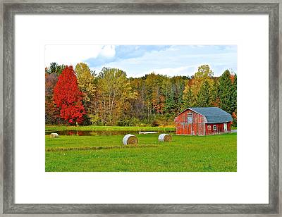 Green Acres Framed Print by Frozen in Time Fine Art Photography