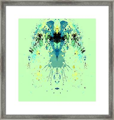 Green Alien Framed Print by Dan Sproul