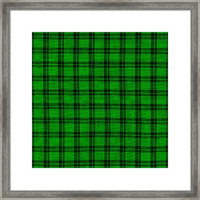 Green And Black  Plaid Cloth Background Framed Print by Keith Webber Jr