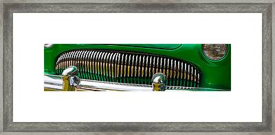 Framed Print featuring the photograph Green And Chrome Teeth by Mick Flynn