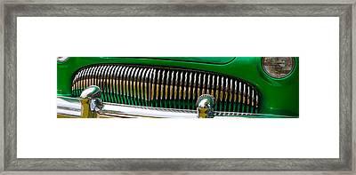 Green And Chrome Teeth Framed Print