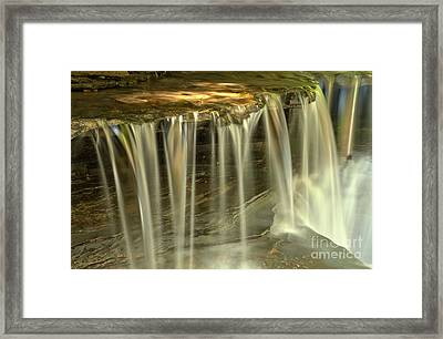 Green And Golden Streams At Stony Brook Framed Print by Adam Jewell