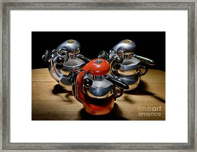 Green And Orange Atomic 1 Framed Print