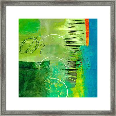 Green And Red 5 Framed Print by Jane Davies
