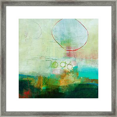 Green And Red 6 Framed Print by Jane Davies