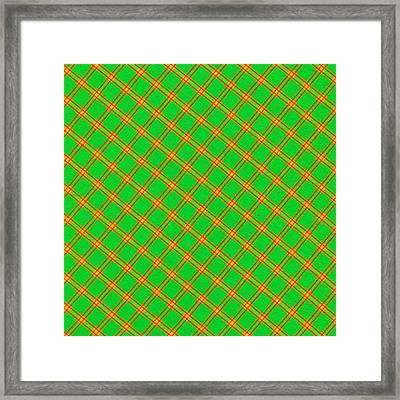 Green And Red Fabric Background Framed Print by Keith Webber Jr