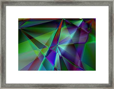 Green And Violet In A Dynamic Light Dialogue Framed Print by Art Di