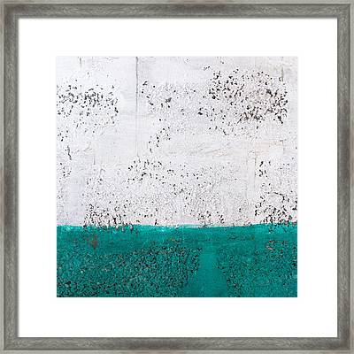 Green And White Wall Texture Framed Print by Dutourdumonde Photography
