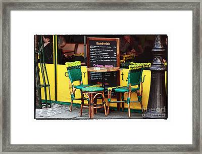 Green And Yellow In Paris Framed Print by John Rizzuto