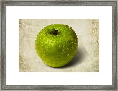 Green Apple - 2 Framed Print by Alexander Senin