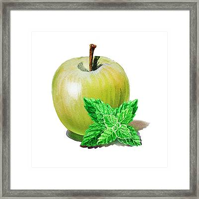Green Apple And Mint Framed Print
