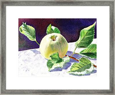 Green Apple Framed Print by Irina Sztukowski