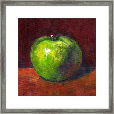 Green Apple Framed Print