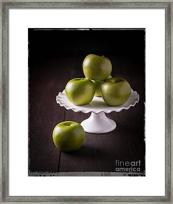 Green Apple Still Life Framed Print by Edward Fielding