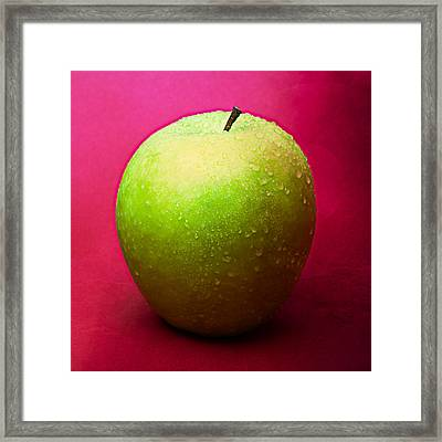 Green Apple Whole 1 Framed Print by Alexander Senin