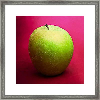 Green Apple Whole 2 Framed Print by Alexander Senin