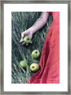 Green Apples Framed Print by Joana Kruse