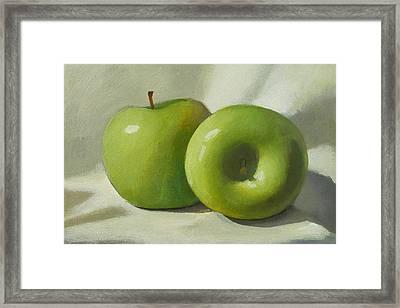 Green Apples Framed Print by Peter Orrock