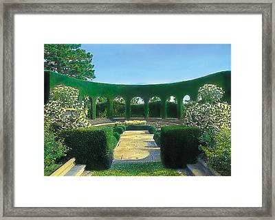 Green Arches Framed Print by Terry Reynoldson