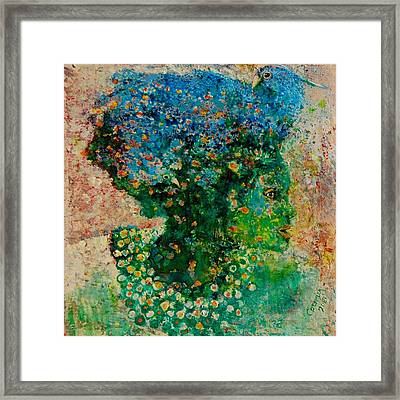 Green Artist Framed Print by Jean Cormier