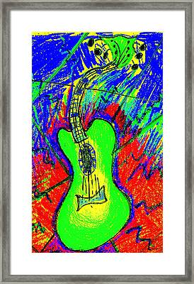 Green Axe Framed Print by Bill Solley