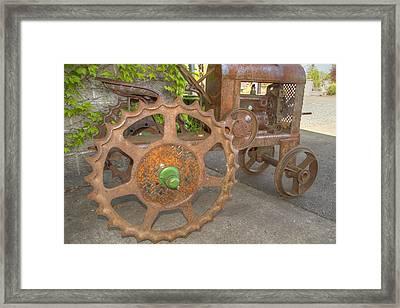 Green Axle Framed Print by Jean Noren