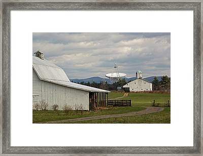 Green Bank Telescope And Farm Buildings Framed Print by Jim West