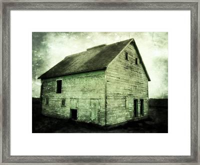 Green Barn Framed Print by Julie Hamilton
