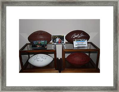 Green Bay Packer Backfield Framed Print by Dick Willis
