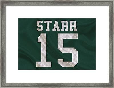 Green Bay Packers Bart Starr Framed Print by Joe Hamilton