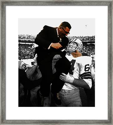 Vince Lombardi Green Bay Packers Framed Print
