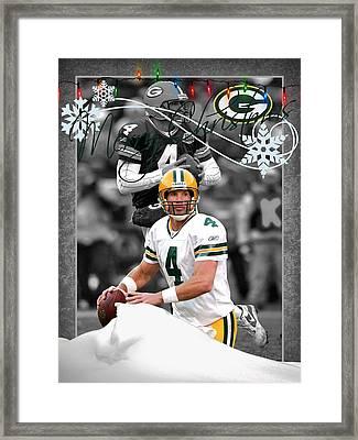 Green Bay Packers Christmas Card Framed Print by Joe Hamilton