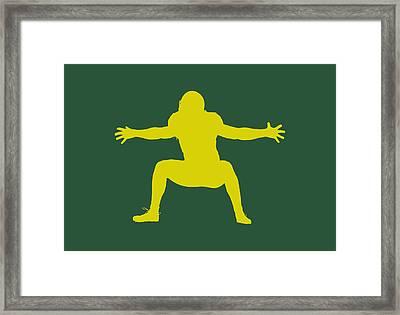 Green Bay Packers Clay Matthews Framed Print by Joe Hamilton