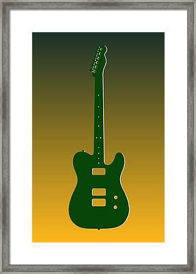 Green Bay Packers Guitar Framed Print by Joe Hamilton