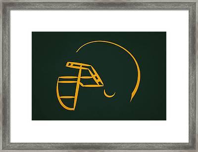 Green Bay Packers Helmet Framed Print by Joe Hamilton
