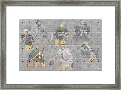 Green Bay Packers Legends Framed Print