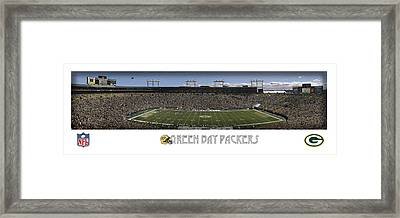 Green Bay Packers Panorama Framed Print by Retro Images Archive
