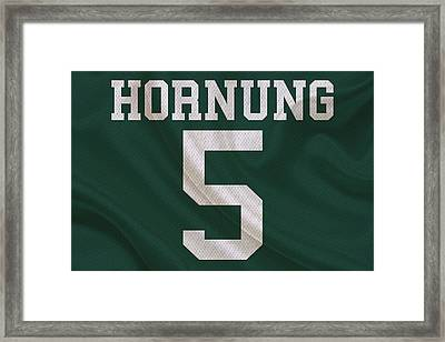 Green Bay Packers Paul Hornung Framed Print