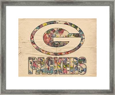 Green Bay Packers Poster Art Framed Print by Florian Rodarte